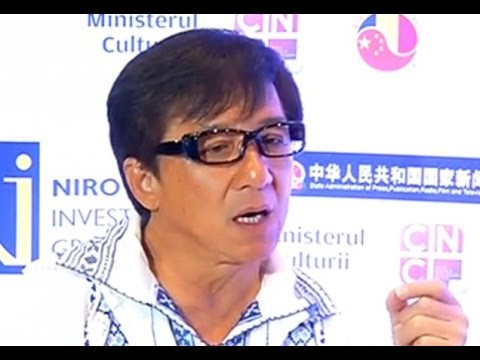 Jackie Chan  成龙  Interviews at Chinese Film Days in Romania 2014