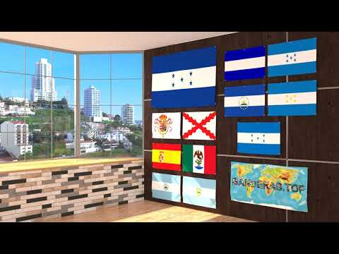 Himno y banderas de Honduras | Honduras flags and anthem