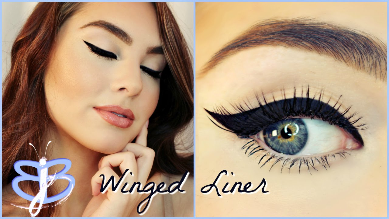 How to perfect winged liner tutorial jackiesbeautybasics youtube baditri Image collections