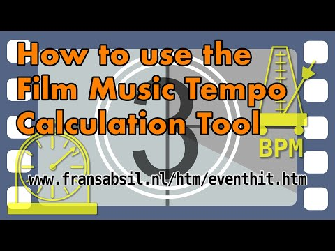 How to use the Film Music Tempo Calculation tool
