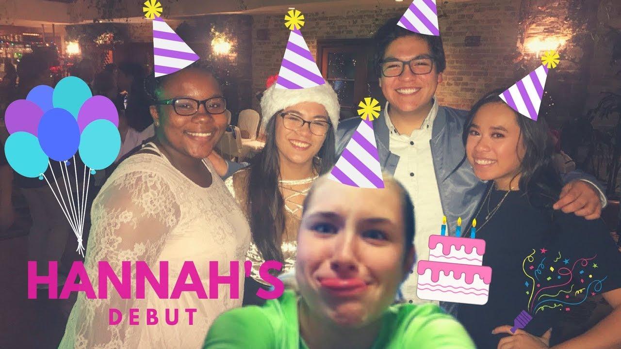 HANNAHS 18TH BIRTHDAY PARTY