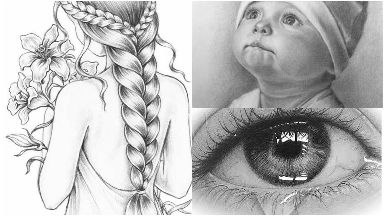 Beautiful Pencil Sketch Ideas Pencil Sketch Wall Hanging For Home Decor Youtube