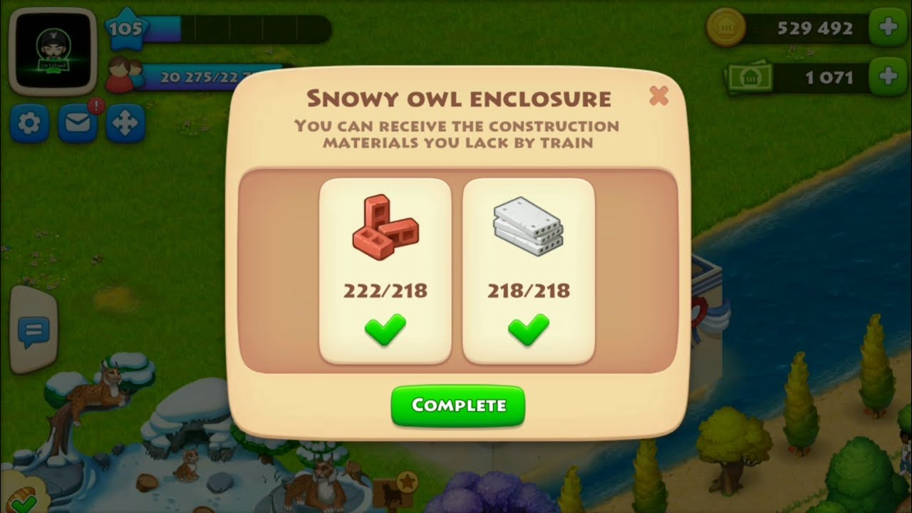 Township Zoo : Snowly Owl Family Completed