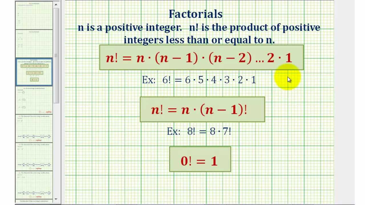 Ex 1: Simplify Expressions with Factorials - YouTube