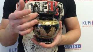 видео Керамические декоративные вазы