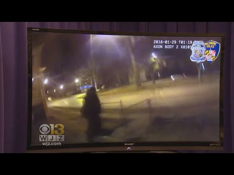Body Cam Footage Of Man Killed After Pulling Gun On Baltimore Officer