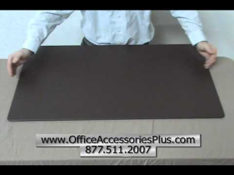 Chocolate Brown Leather Desk Mat 34x20   Office Accessories Plus