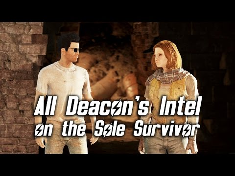 Fallout 4 - Deacon's Intel on the Sole Survivor (All Options)