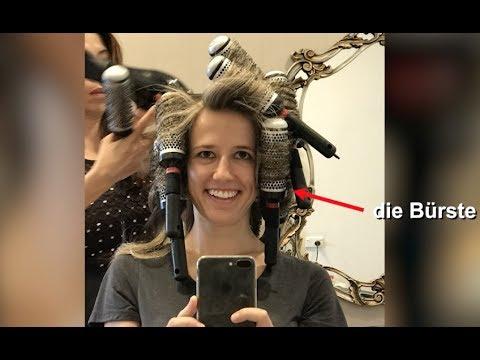 Learn German vocabulary at the hairdresser! Was ist eine Bürste, ein Kamm und ein Waschbecken?