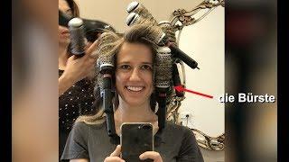 Beim Friseur! At the hairdresser! Was ist eine Bürste, ein Kamm und ein Waschbecken?