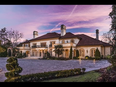 25 MILLION DOLLAR MEDITERRANEAN ESTATE - Luxury Mansion Tour in Atlanta Georgia