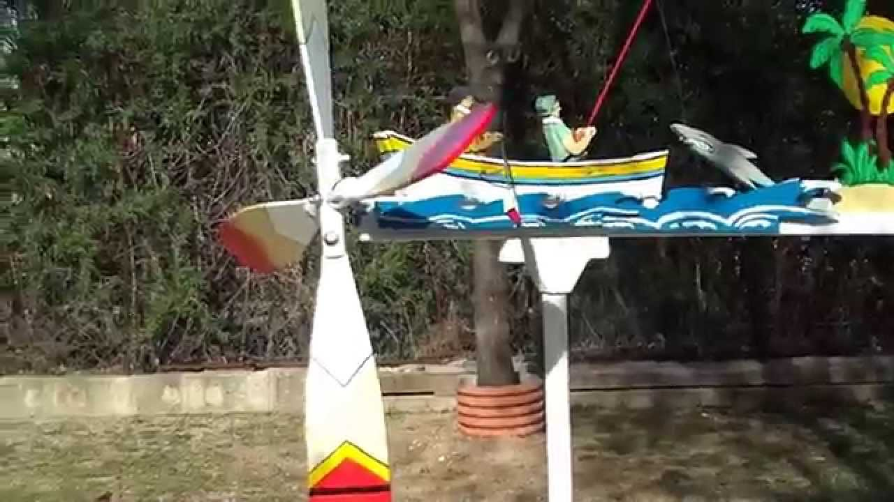 Molino de viento veleta pescadores youtube for Molinos de viento para jardin