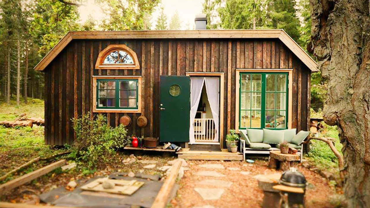 Amazing Beautiful The Tiny House In The Swedish Forest