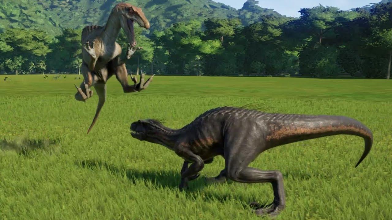 Spinoraptor VS Indoraptor - Jurassic World Evolution