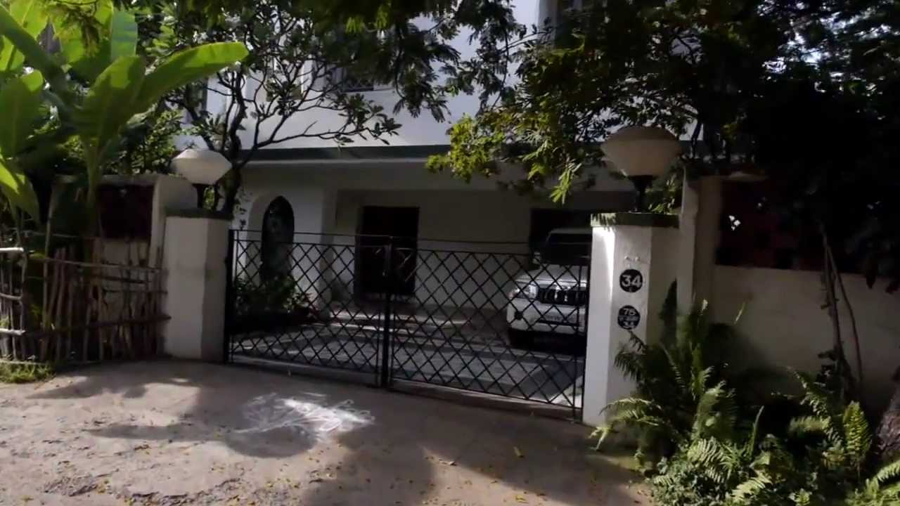 Bishop garden house in chennai india youtube for Garden house in india