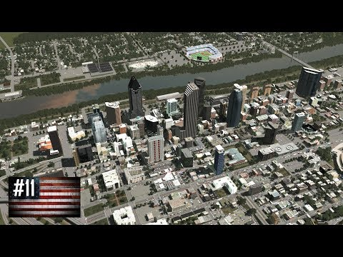 Cities: Skylines - The American Dream #11 - Huge city expansion across the river