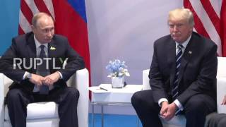 Germany: Putin and Trump sit down for first ever talks at G20 in Hamburg