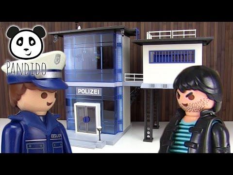 PLAYMOBIL Policía - Estación de policía con instalación de alarma - Demostración - Pandido TV