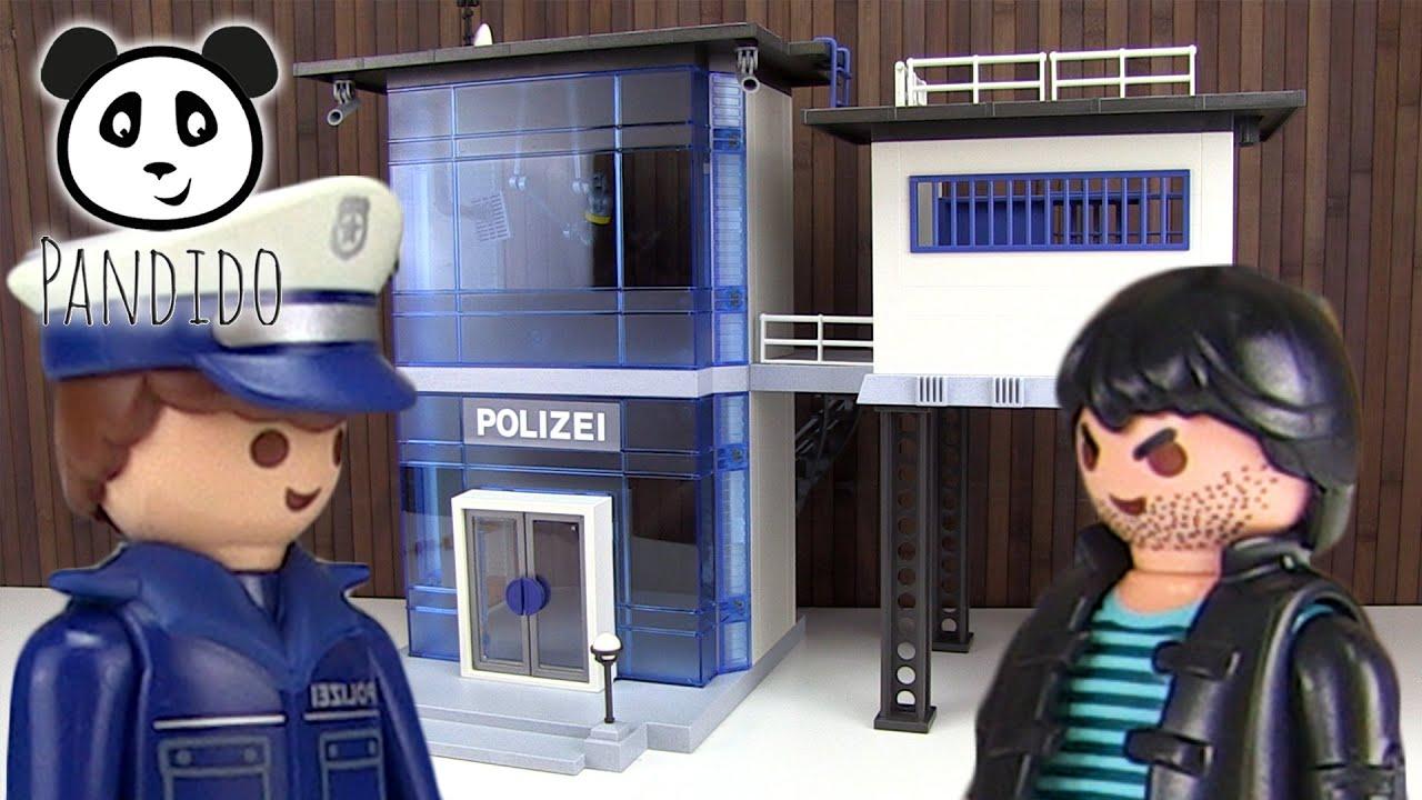Estación Pandido Demostración Playmobil De Alarma Instalación Policía Con Tv thdrCQsx