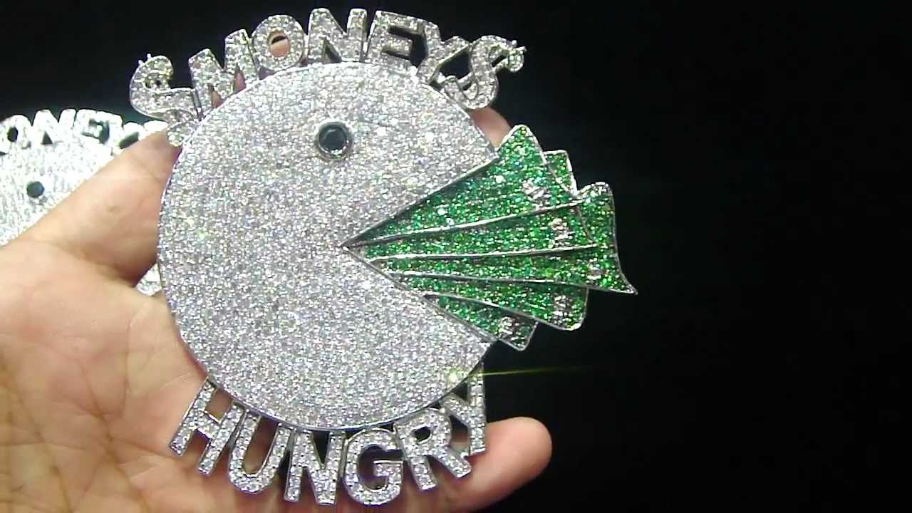 Mr Chris Da Jeweler Custom Lab Diamond Pacman Money Hungry