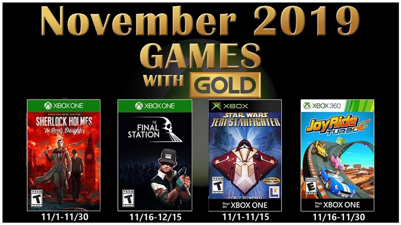 Xbox Free Games November 2020.Games With Gold November 2019