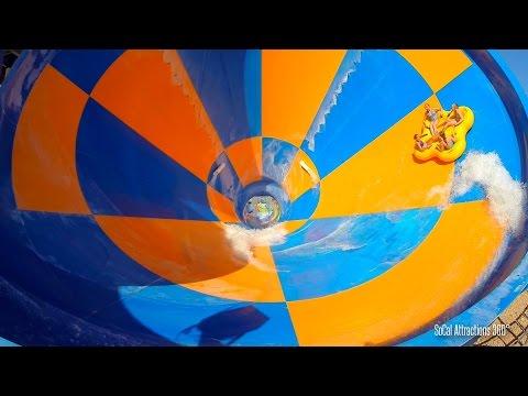 The Tornado Water Slide (HD POV) -  Water Park 2015 - Wet n Wild & Six Flags Hurricane Harbor