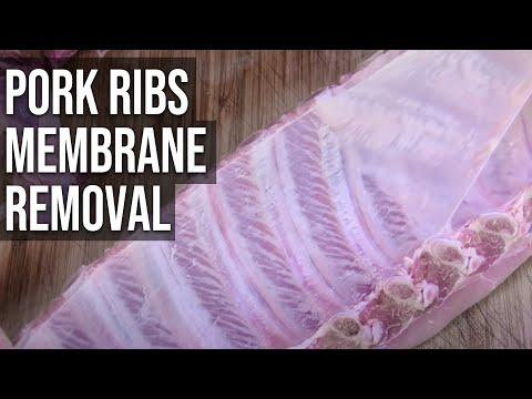 How to remove the BBQ Pork Ribs Membrane