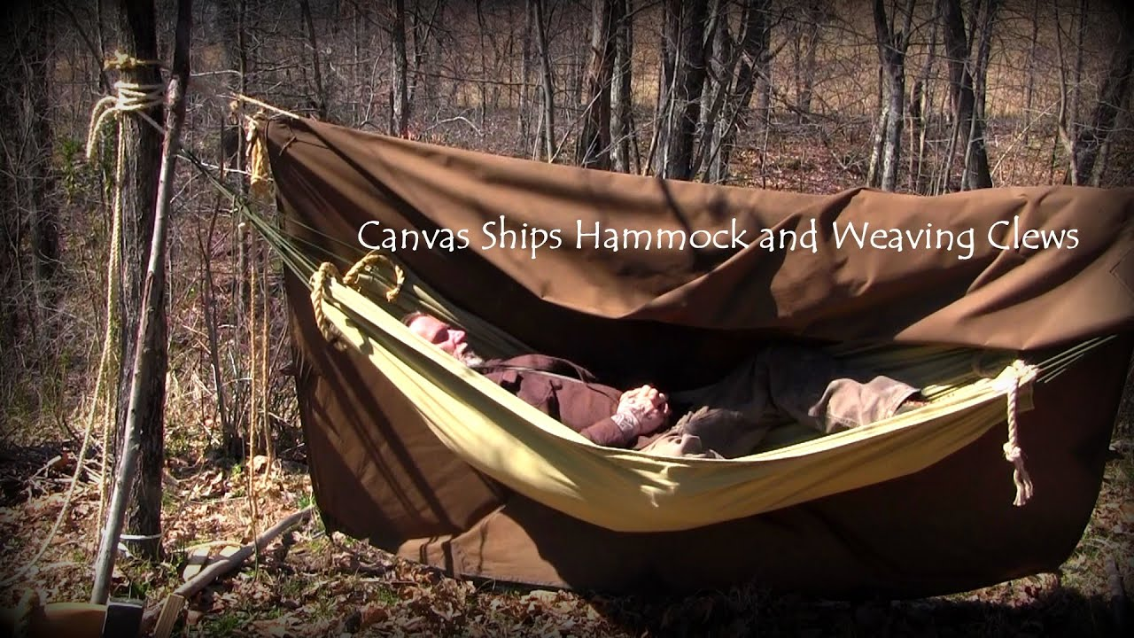 canvas ship hammocks and weaving a clew   youtube  rh   youtube