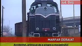 Tren marfar, deraiat aproape de Craiaova