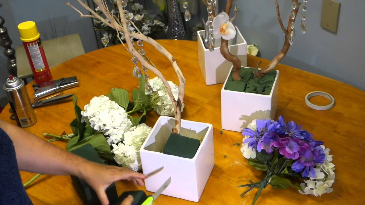 How To Make And Decorate Manzanita Branch Centerpieces Youtube