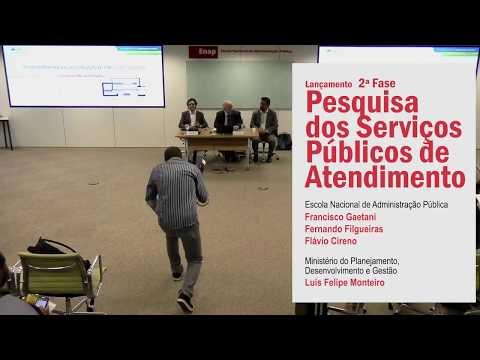 Lançamento da 2ª Fase–Pesquisa dos Serviços Públicos de Atendimento da APF