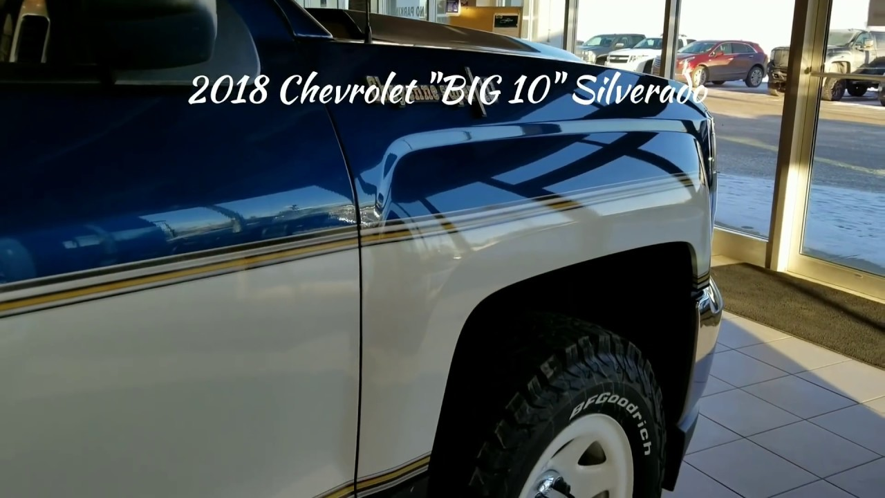 Blue Gmc Truck >> 2018 Chevrolet Silverado BIG 10 Retro Cheyenne Super 10 - YouTube
