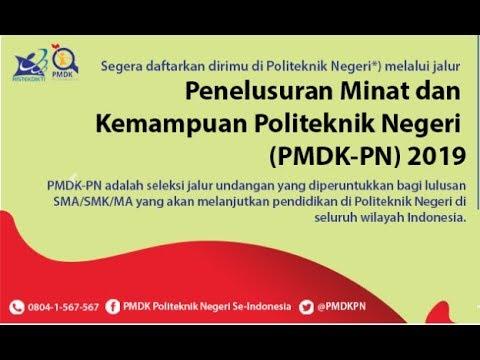 #politeknik PMDK-PN 2019 | PENELUSURAN MINAT DAN KEMAMPUAN POLITEKNIK NEGERI