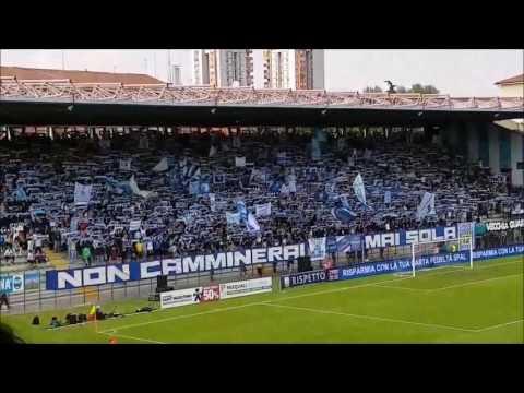 Spal - Cittadella: sciarpata e tifo spettacolare dello stadio Paolo Mazza