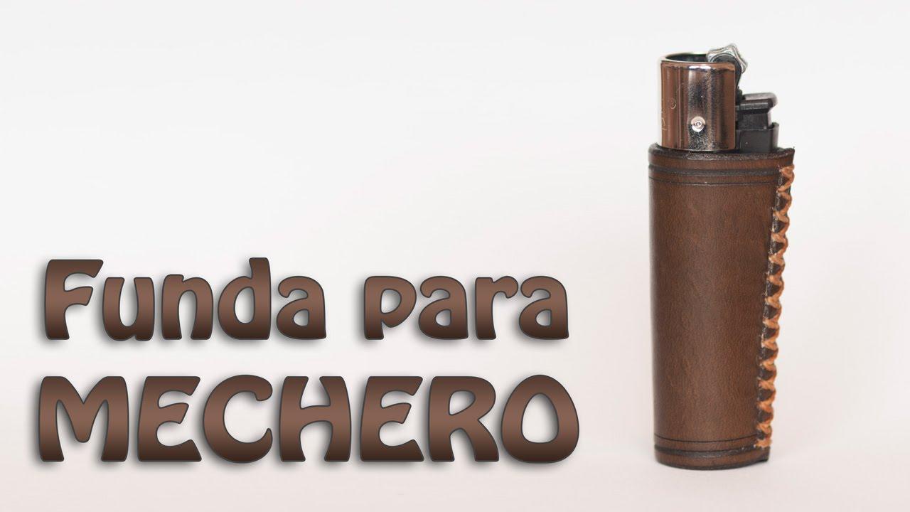 Haciendo una funda de cuero para mechero || Making a lighter leather ...
