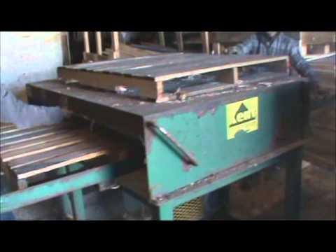Single head pallet notcher (Pallet Repair) - YouTube