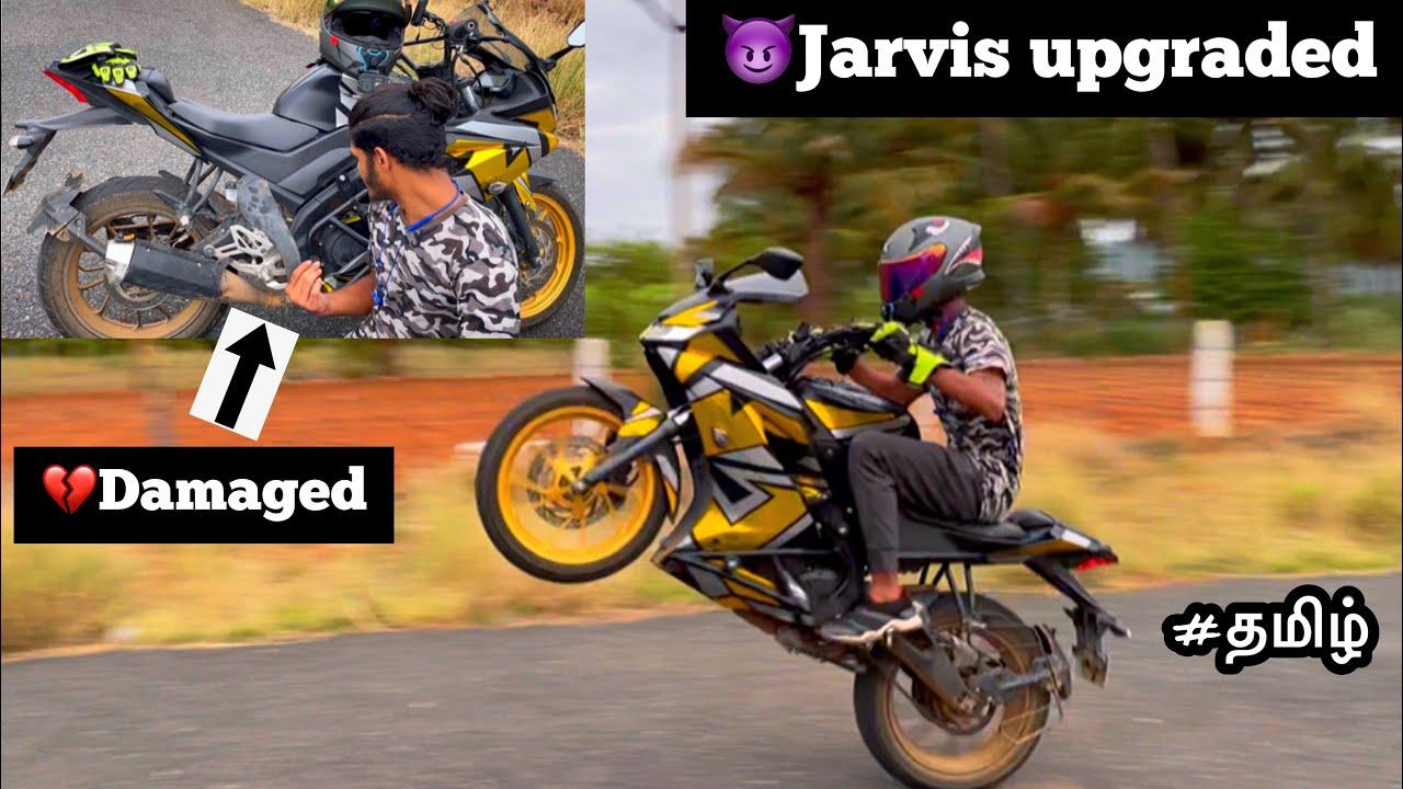 😈Jarvis upgraded but 💔damaged   Wheelie   R15v3   tamil   Motovlog   TTF  