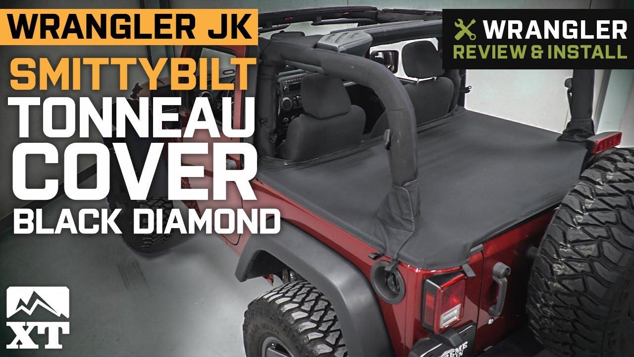 Smittybilt Jeep Wrangler Tonneau Cover Black Diamond 761235 07 18 Jeep Wrangler Jk 2 Door