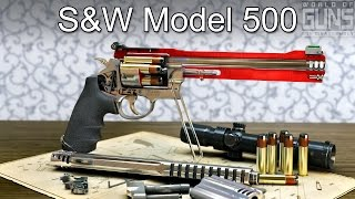 How does S&W Model 500 revolver work? 3D model animation