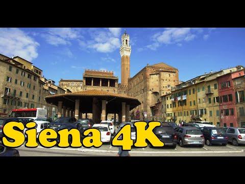 Walk around Siena Italy 4K.