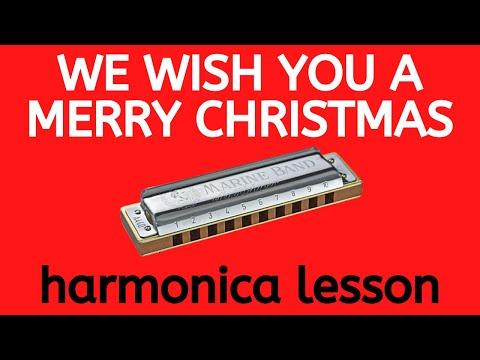 Harmonica harmonica tabs merry christmas : We Wish You A Merry Christmas harmonica lesson: how to play a ...
