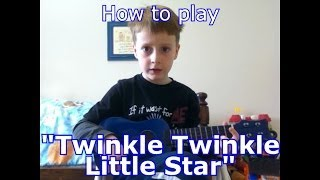 "How to play ""Twinkle Twinkle Little Star"" on Ukulele for beginners!"