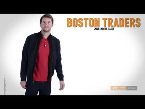 Boston Traders Cable Sweater Jacket - Fleece Lined (For Men)