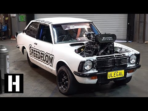 200mph Wheel Speed Burnout Car: 600hp Methanol V8 ULEGAL Corolla