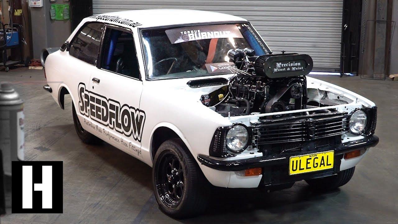 200mph Wheel Speed Burnout car: 600hp Methanol V8 ULEGAL ...