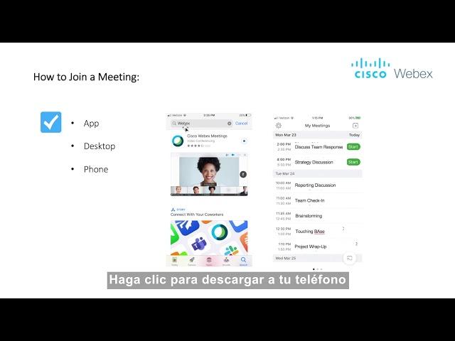 ¿Cómo unirse a una reunión en Webex?