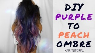 DIY PURPLE TO PEACH OMBRE HAIR TUTORIAL | ALLY'S ATMOSPHERE