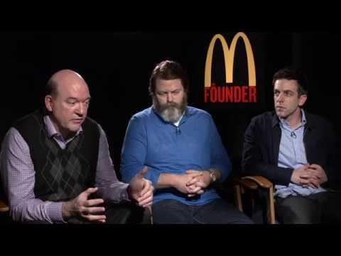 Nick Offerman, B.J. Novak and John Carroll Lynch talk The Founder!