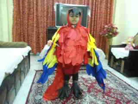 MACAW BIRD COSTUME(HOME MADE)---FANCY DRESS COMPETITION Travel Video