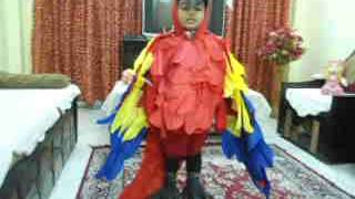 MACAW BIRD COSTUME(HOME MADE)---FANCY DRESS COMPETITION